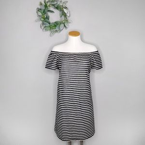 Madewell L Striped Melody Off the Shoulder Dress